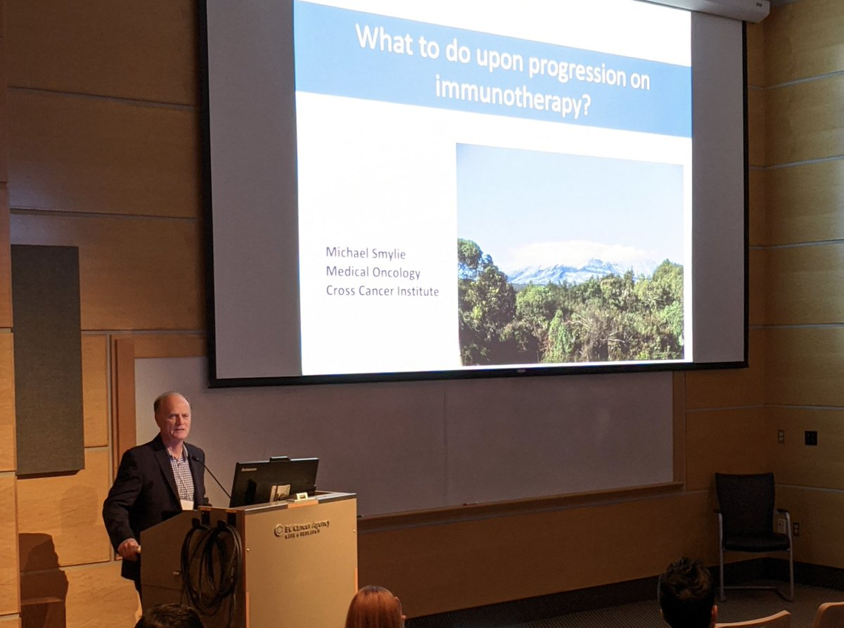Dr. Mike Smylie, Keynote Speaker advising BC Physicians on the latest in advanced melanoma and managing immunotherapy toxicities.pic.twitter.com/2LQjMMx4Dj