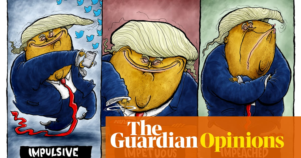 #DonaldTrump #USnews Brian Adcock on the impeachment of Donald Trump – cartoon  http:// dlvr.it/RNFX3t     <br>http://pic.twitter.com/4CfZUCS5fN