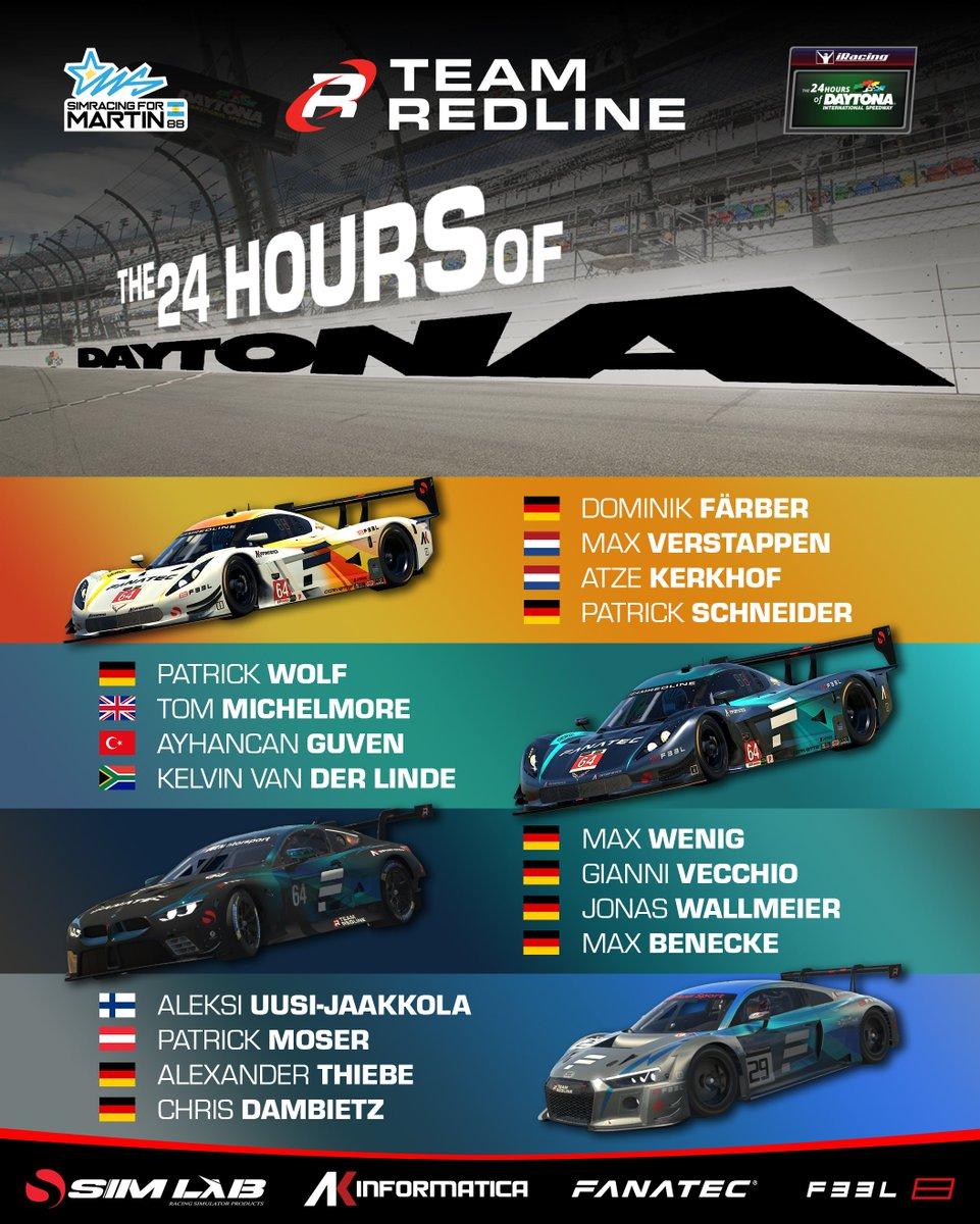 Looking forward to 24H of flat out racing 🔥🔥🔥 @TeamRedlineSim