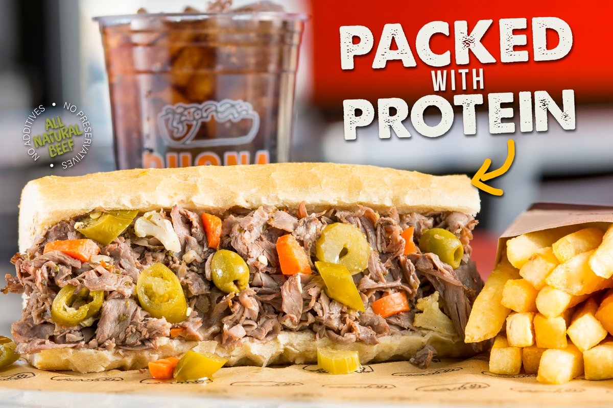 The PERFECT Post-Workout Meal!  #BuonaBeef #Protein #Delicious #Peppers #NewYearNewMe #Nourish #Dinner #Beef #PostWorkOut #ProteinPacked #StrongNotSkinny #Meal #Balanced #MeatLoverpic.twitter.com/t5uKrS5nbz