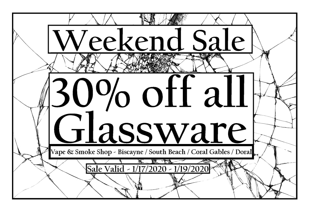 Need a new piece? Come in for our glass sale all weekend!  #VapeNSmokeShop #Miami #SmokeShop #Glass #Sale #Pipes #WaterPipe #Discount #SouthBeach #MiamiBeach #AltonRoad #BeachVibes #LincolnRoad #BeachLifepic.twitter.com/2BseTMADcm