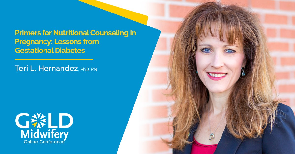 """test Twitter Media - Upcoming #GOLDMidwifery2020 Perinatal Nutrition lecture pack presentation """"Primers for Nutritional Counseling in Pregnancy: Lessons from Gestational Diabetes"""" with Teri L. Hernandez, PhD, RN: https://t.co/7FmA9vxy5j #midwife #midwifery #GestationalDiabetes #pregnancy https://t.co/MA5JTXXU0D"""