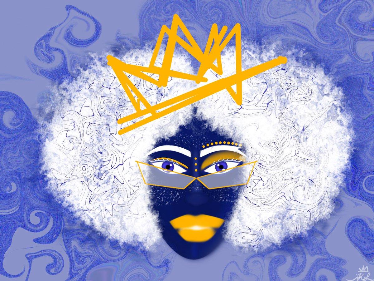 look at her.   #art #college #artbusiness #supportblackownedbusinesses #supportlocalartists #digitalart #procreate #artist #blackart #blackartists #artforsale #acrylicpainting #canvaspainting #blackwomen #naturalhair #naturalhaircommunity #blackempowerment #blackgirlmagicpic.twitter.com/HBj5g5jUw0