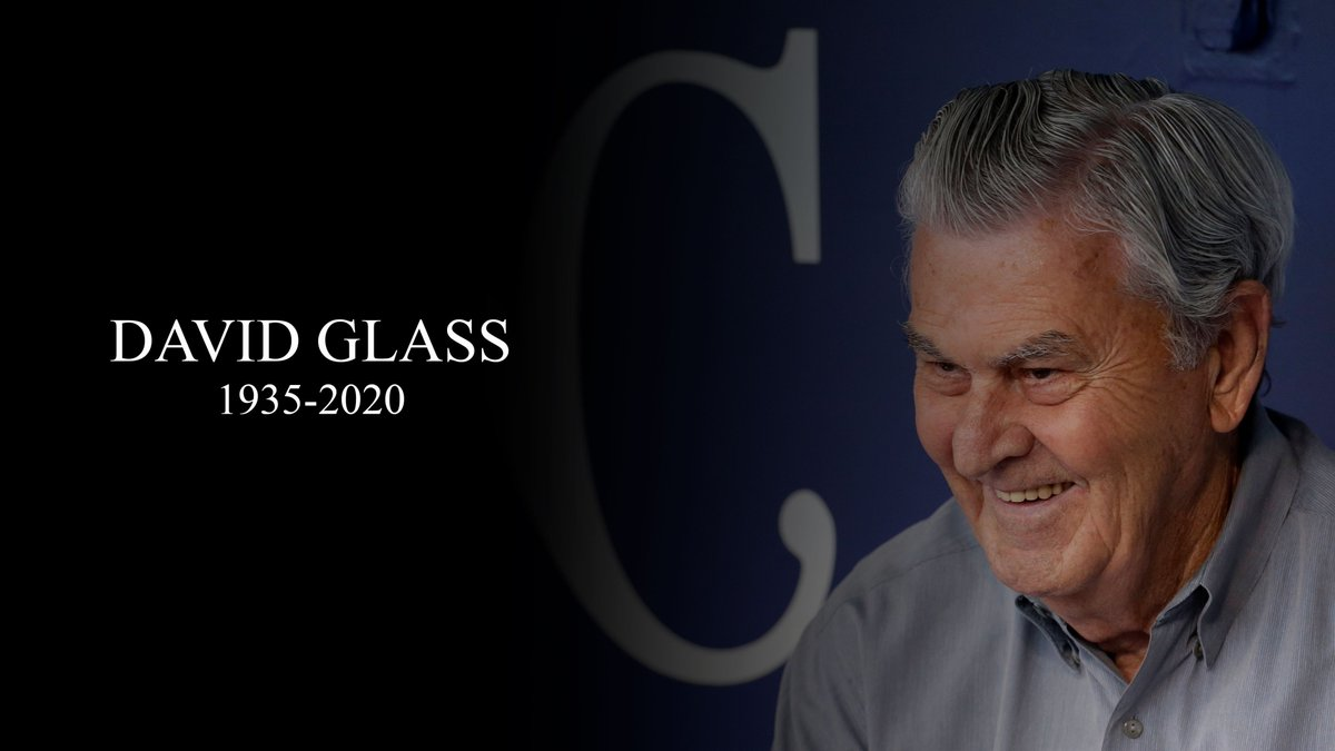 Our thoughts and prayers are with the Glass family and our colleagues at the Kansas City Royals.