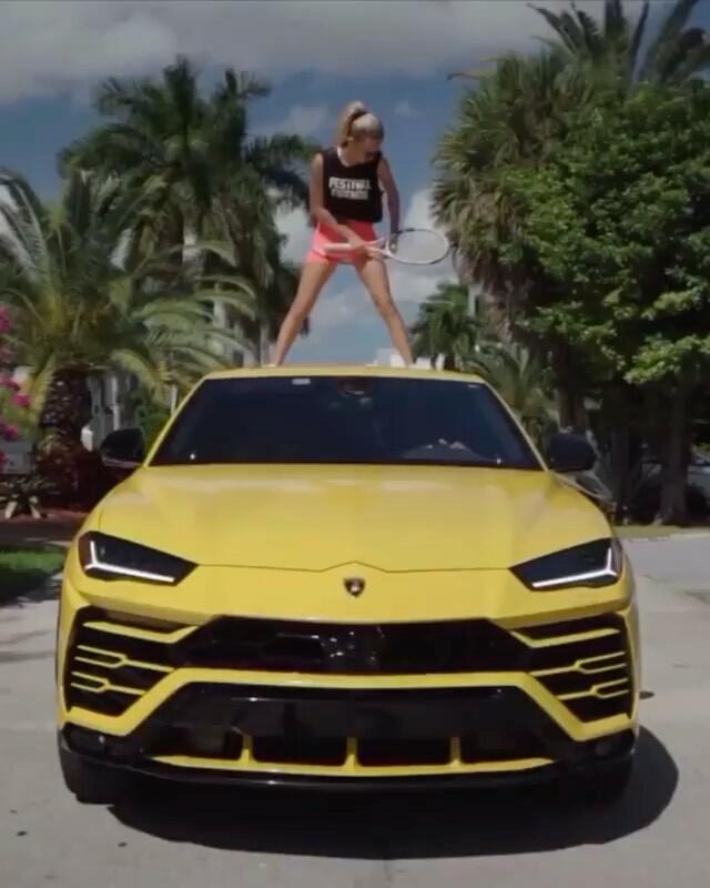 #GameSetMatchOfTheDay repost @youngandrichlifestyle ・・・ Can you name this car? . . . . Video 👉 @angelina_dimova . . . . . . #luxuriouslife #supercarlifestyle #luxurysuv #tennisgirl Watch #Instavideo: