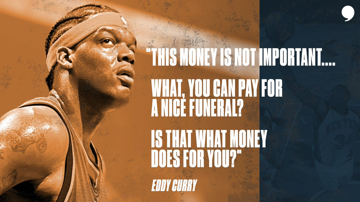 Think what you will about all the money @Eddy_Curry made, then lost during his career. One things for sure, all the money in the world didnt mean anything when he lost two of his loved ones. 🎥: playerstribu.ne/EddyCurry
