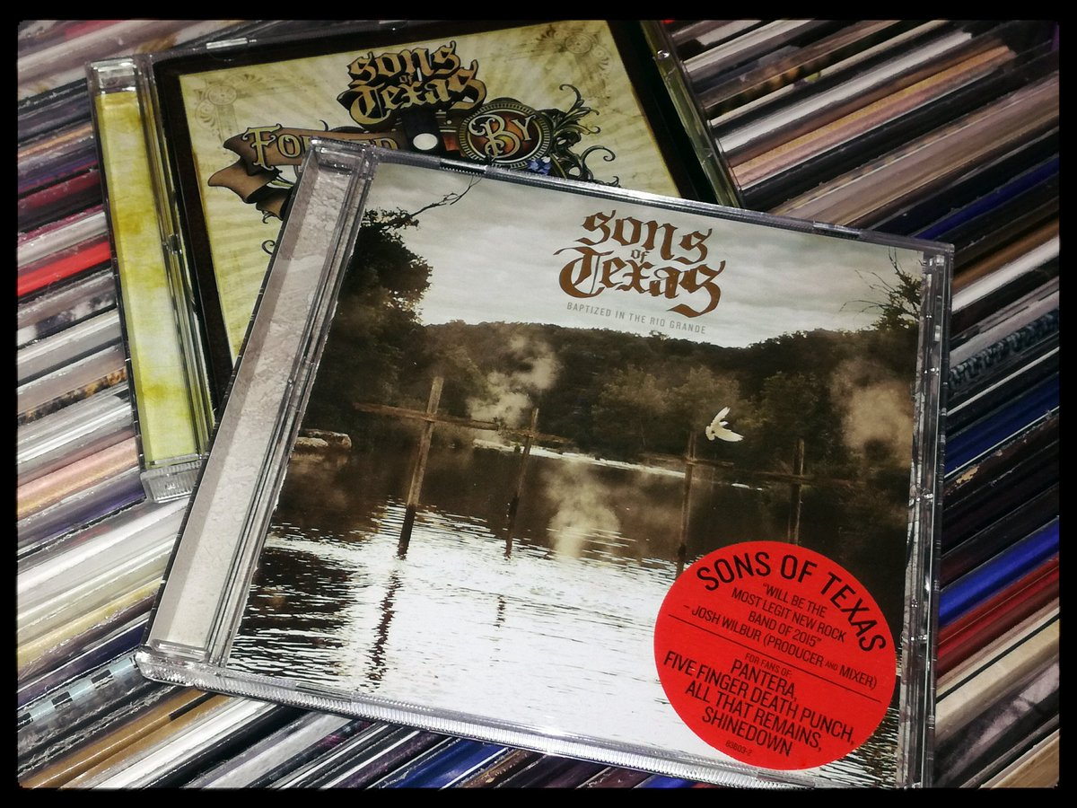 @sonsoftexas #NowPlaying️ #SonsOfTexas Baptized In The Rio Grande #Cd #Music #Cdcollection pic.twitter.com/dgDXuKh4rY