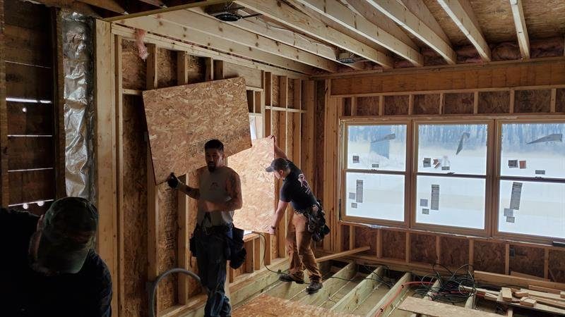 Working on new floor, headering old substandard window openings for new #andersenwindows , and starting electric at the fabulous old #farmhouse in Rio. #degnan #designbuild #remodel #remodelingdoneright #homeaddition <br>http://pic.twitter.com/fRb3GJCHrn