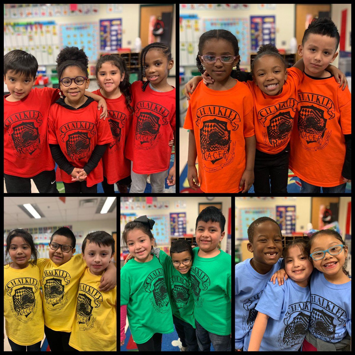 The kids were so excited to rock their new house shirts today!!! #werunasOne #jacksonspack