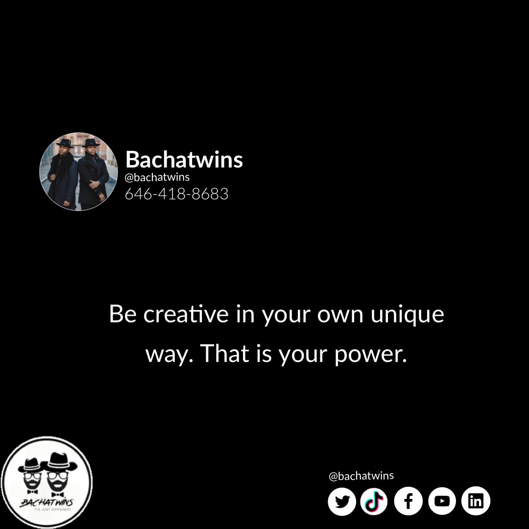 With creativity you will go a long way. Be creative in your own way.  #Bachatwins #BachatwinQuotes #BeCreative #ItsYourWayOfBeingUnique #DailyQuotespic.twitter.com/VZpbxaLGEN