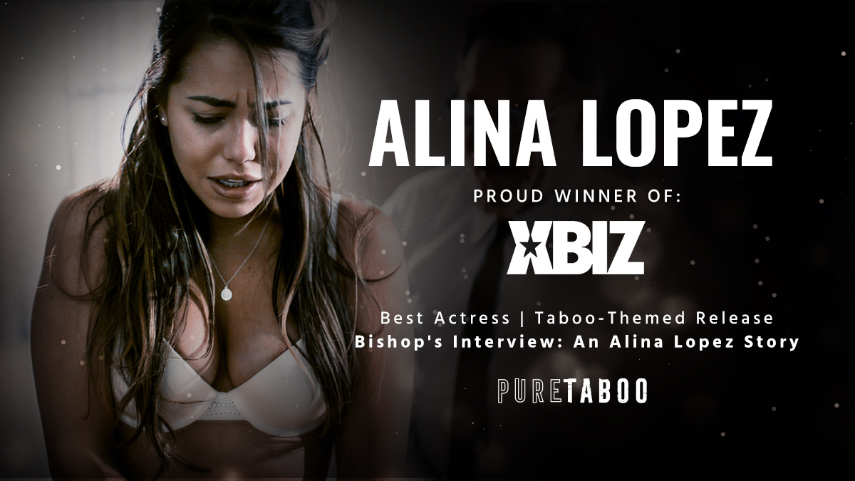"""Congrats @ItsAlinaLopez for your 2020 @Xbiz award for 'Best Actress - Taboo Themed Release' for your self penned """"Bishop's Interview: An Alina Lopez Story"""".   It was a powerful drama that you so poignantly brought to life. Thank you for sharing this tale with @puretaboocom!pic.twitter.com/oLog9MSUEH"""