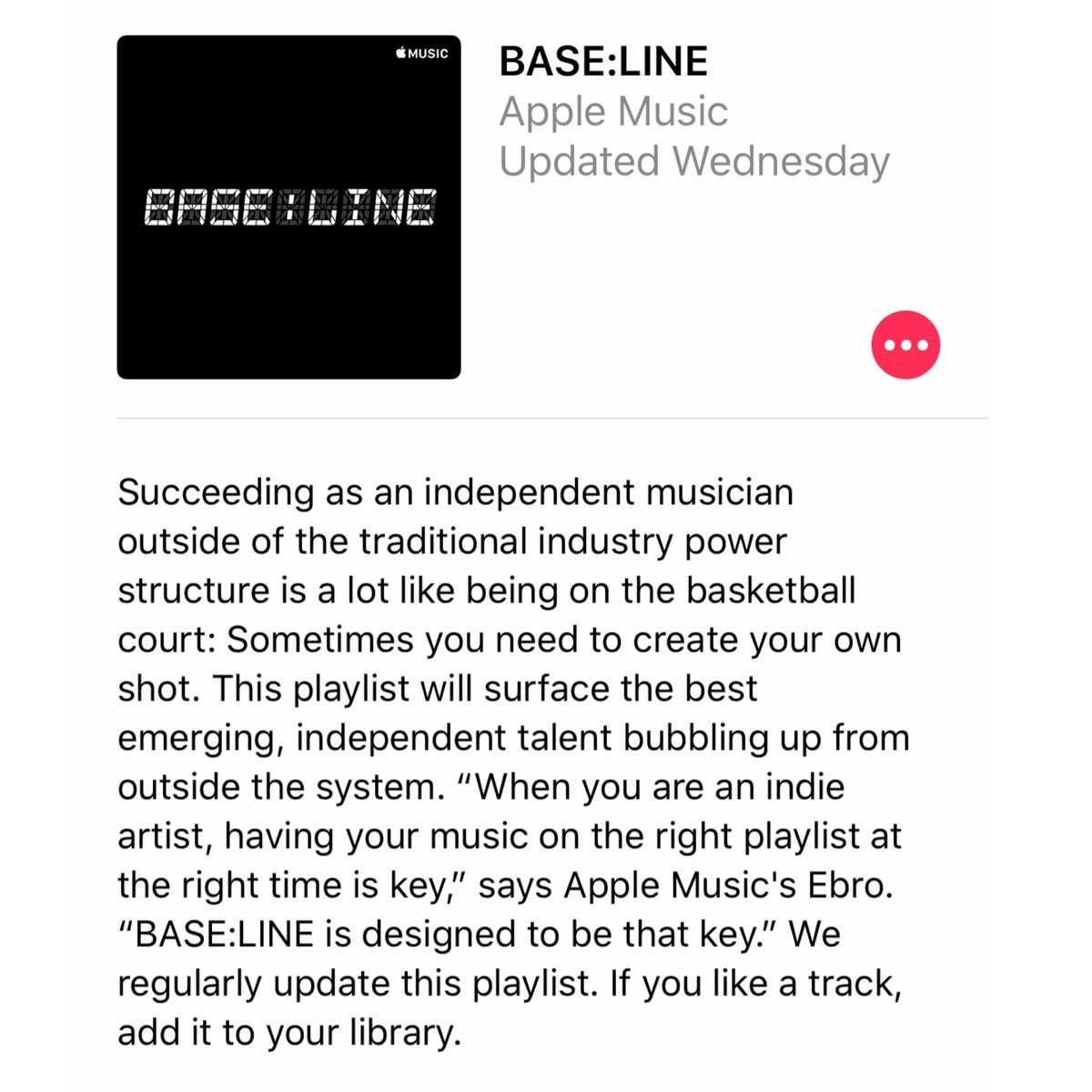 Download the UnitedMasters app and get your music in front of millions on our new BASE:LINE playlist.  UnitedMasters x @nba x @applemusic.  INDEPENDENT ARTISTS ONLY. 🗣