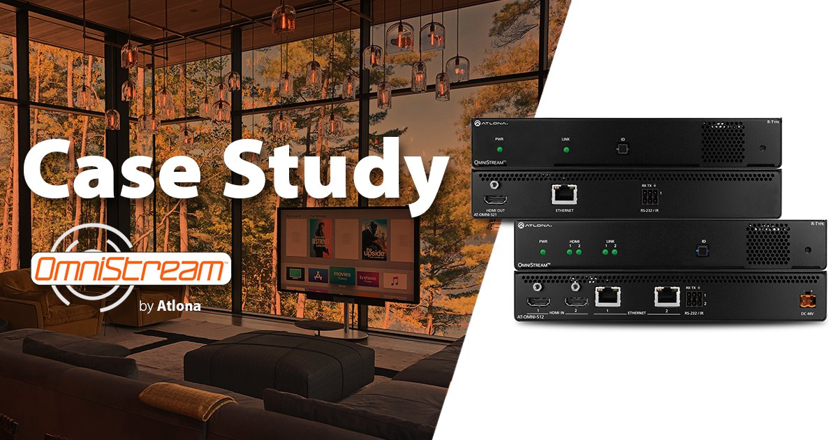 "Learn how the OmniStream series powers AV distribution in a residence located in the luxurious ""cottage country."" A new case study is available now! https://atlona.com/resources/case-studies/omnistream-powered-cottage/ …  #AVTweeps #proAV #customInstall #residentialAV #AVoverIPpic.twitter.com/sJkMfLV1by"
