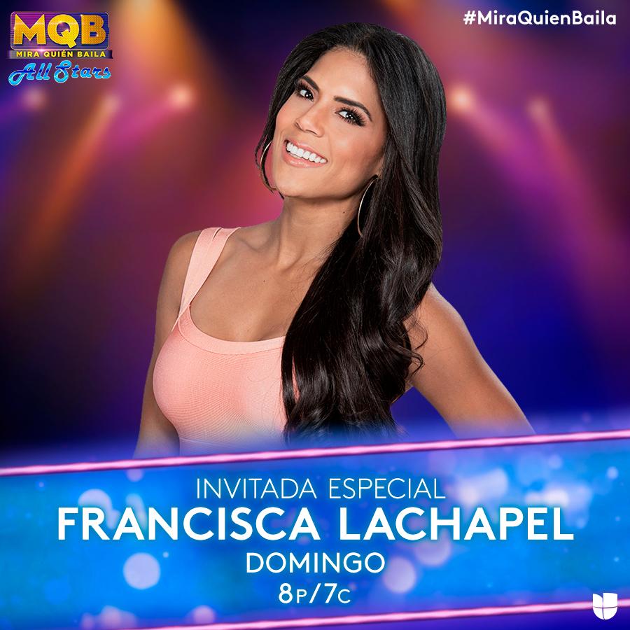 No te pierdas la participación de nuestra @franciscaNBL este domingo en #MiraQuienBaila pic.twitter.com/drTm8xmtlQ