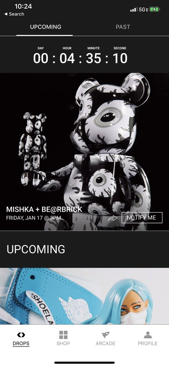 The #keepwatch 400% & 100% be@rbrick set is available exclusively on @NTWRKLIVE right now!