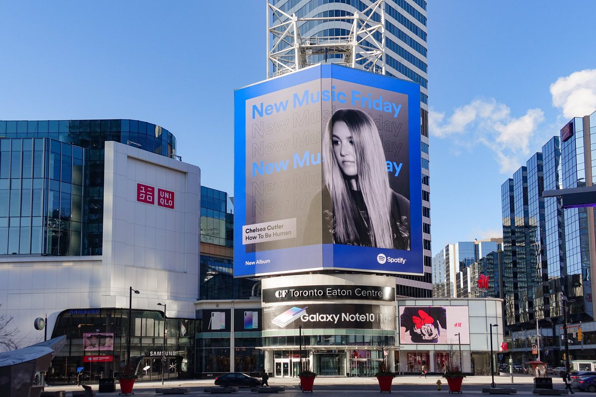 'How To Be Human' billboards in Toronto and NYC Times Square. 🥰 @chelseacutler