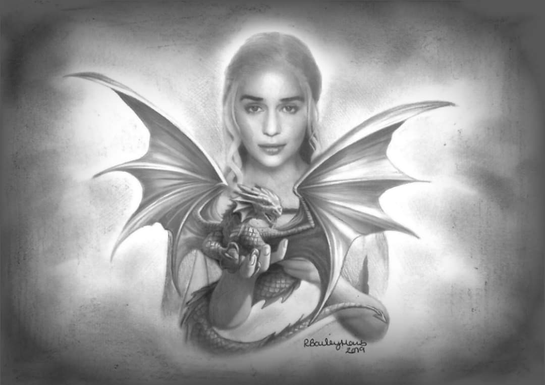 It's sad to know I'll never get the chance to watch a @GameOfThrones episode again for the FIRST time. I think @emiliaclarke was amazing and the perfect choice for our beautiful fair queen xx #GameofThrones #dragons #artpic.twitter.com/jtbFcW6i0h