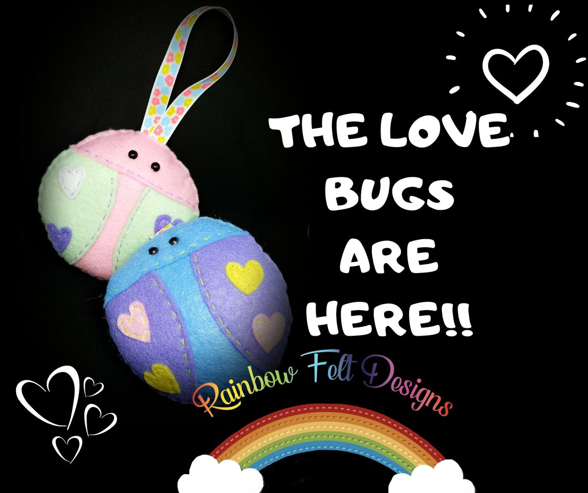 The love bugs are here!! #ValentinesDay #lovebug #romance  #findmeonfacebook #findmeonetsy #findmeontwitter #wheretofindme #rainbowfeltdesigns #connect #connection #connectivity #comefollowme2020 #comefollowme #supportsmallbusiness #showsomelove #supportindiebusinesspic.twitter.com/Pt7P6gqBOS