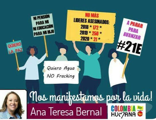 .#21E te invitamos a manifestarte en las calles en defensa por el derecho a la vida, a la salud, al trabajo y la pensión digna.#NiUnoMás  Nuestros líderes sociales son el mayor tesoro y por eso los debemos defender #SinMiedoALaCalle #ElParoSigue #ColombiaNoSeRinde @MisionONUCol