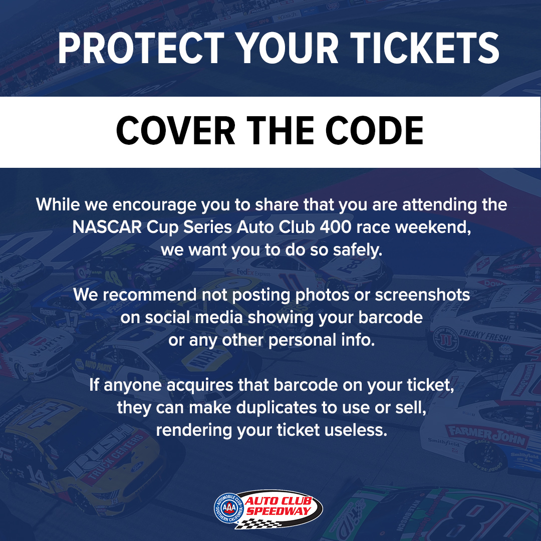 RT @ACSupdates: Tickets are being mailed! Please #coverthecode 🏁  #AutoClub400 I March 1 https://t.co/npGDWXtL2Z