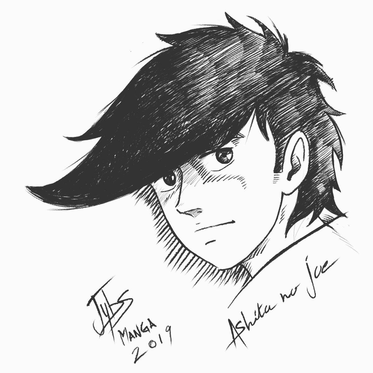 Ashita no Joe, Digital drawing by me Jeremy. B, 2019   #jybsartmanga #mangasketch #disegnomanga #rockyjoe #tatuaggio #arte #mangatattoo #drawingmanga  #drawing #ashitanojoe #dessinmanga #illustration #illustrazione #artemanga #boxing #digitalartwork #漫画 #漫画家 #漫画 #sketchpic.twitter.com/XNM408dqlu
