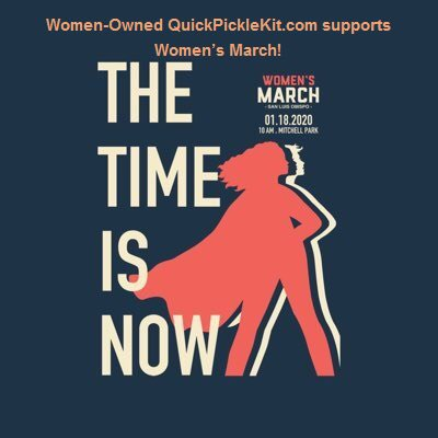 #WomenOwned http://QuickPickleKit.com  supports #WomensMarch http://bit.ly/2uSNcoa  #WomenRising #WomenRising2020 #RiseUp #Resist #EmpoweredWomen #WomenOwned #Business #WomenSupportingWomen  #Women #Womens #March #Empowerment #LGBTQ #TheTimeIsNow #CA #QuickPickleKit #GiveBackpic.twitter.com/aUKOsNYcbb