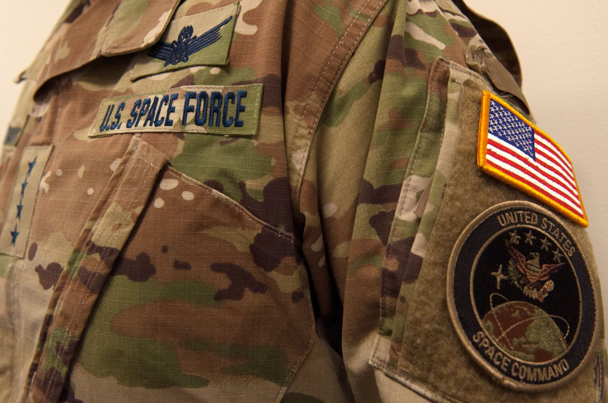 The first #SpaceForce utility uniform nametapes have touched down in the Pentagon.    @EsperDoD  @SecAFOfficial @SpaceForceCSO @GenDaveGoldfein @DeptofDefense @usairforce