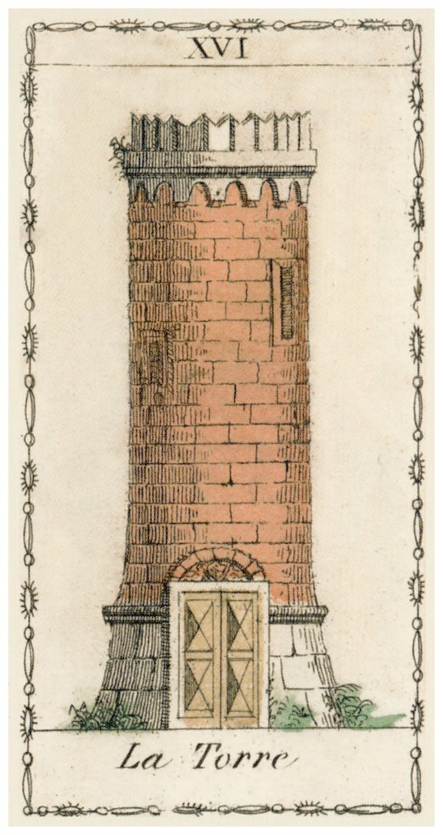 #TheTower - The rending of the House of Doctrine in the heart of the individual; final impenitence. The Fall, and here especially the fall from Grace, also judgement on sin; the ruin of the house of life, when evil has prevailed therein. pic.twitter.com/SxZgKfDlC4