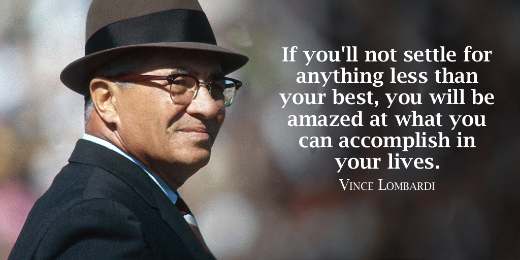 If you'll not settle for anything less than your best, you will be amazed at what you... - Vince Lombardi #quotepic.twitter.com/NY8AIFvoiW
