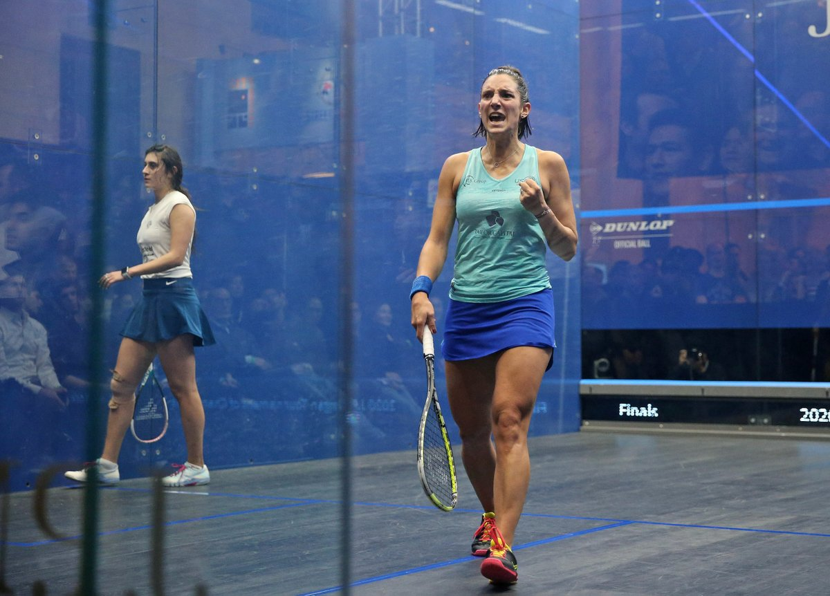 test Twitter Media - France's World No.5 @CamilleSerme is the women's @ToCSquash champion after defeating World Champion @noursherbini in straight-games 🔥🏆  Read more here ⬇️ https://t.co/b5PNoHSm8d #ToC2020 https://t.co/se5tODHKOJ