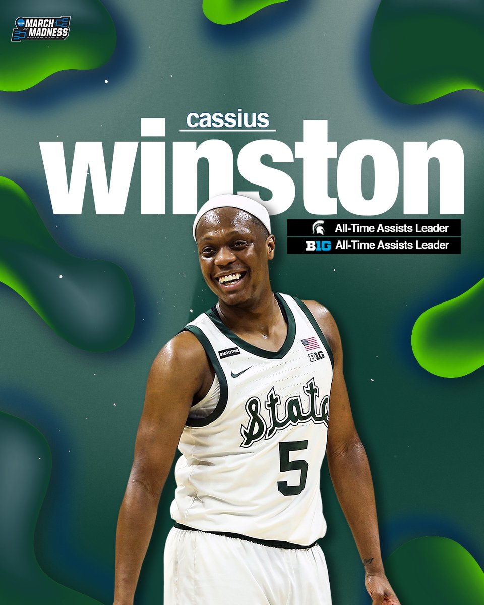career dimes   Cassius Winston is now the Michigan State AND Big Ten All-Time Assists Leader!  <br>http://pic.twitter.com/pLKqnn3Mgb