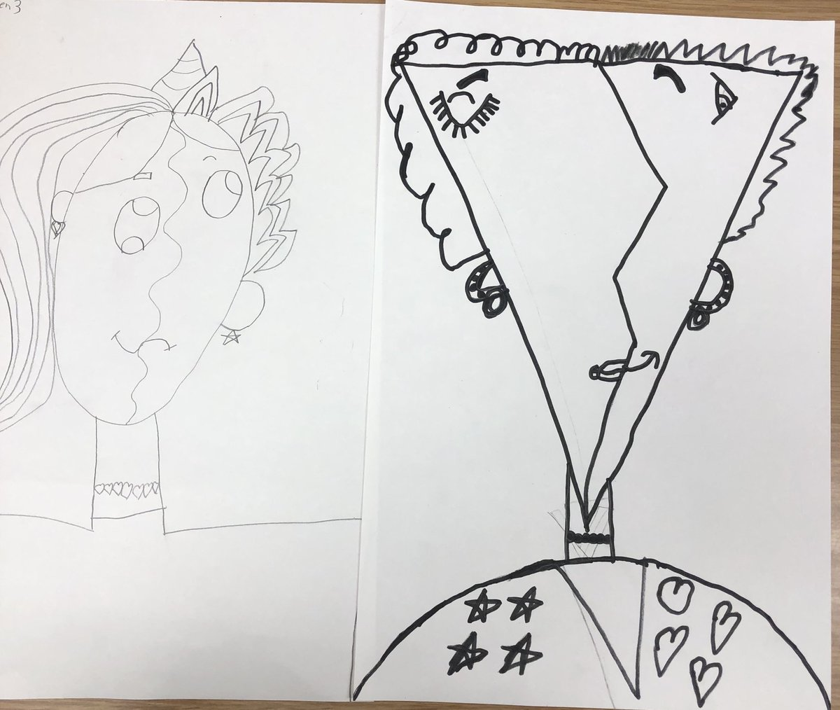 My 1st and 2nd graders ar working on and learning about Picasso. Here is a start to their rendition #ocpsarts #ocps #artedu #arteducation #iteachart #sadlerartspic.twitter.com/23nbn3aguB
