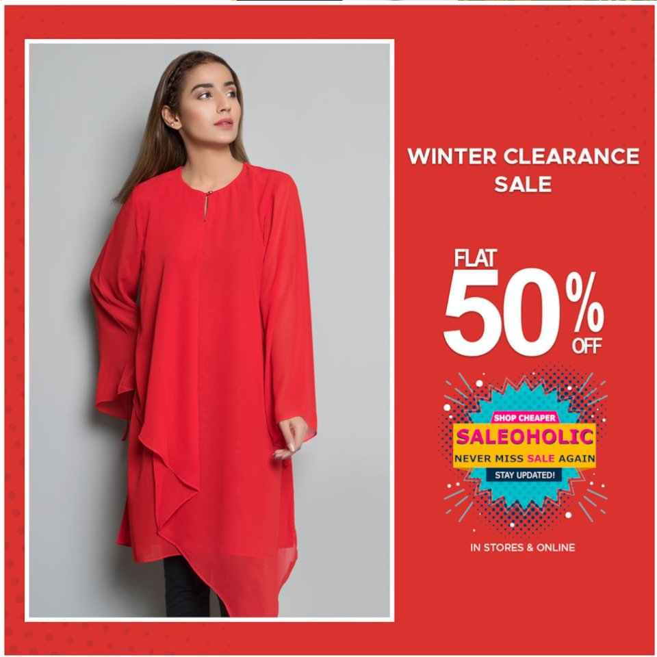 Winter Clearance SALE got bigger! FLAT 50% OFF on casual pret! #warda #saleoholic #saleoholicdiscount #saloholicupdate #summersale #shoppinglover #wintersale  #saleonNOW #brandedclothes #womenclothes #WomenClothingStore #womenshop #pret