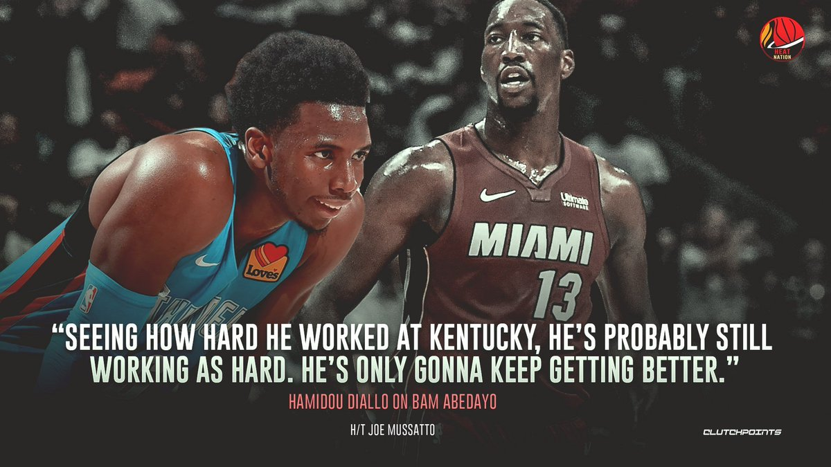 That kind of work ethic may very well earn Bam Adebayo an All-Star slot.   #HEATTwitter <br>http://pic.twitter.com/34UJxpG2AG