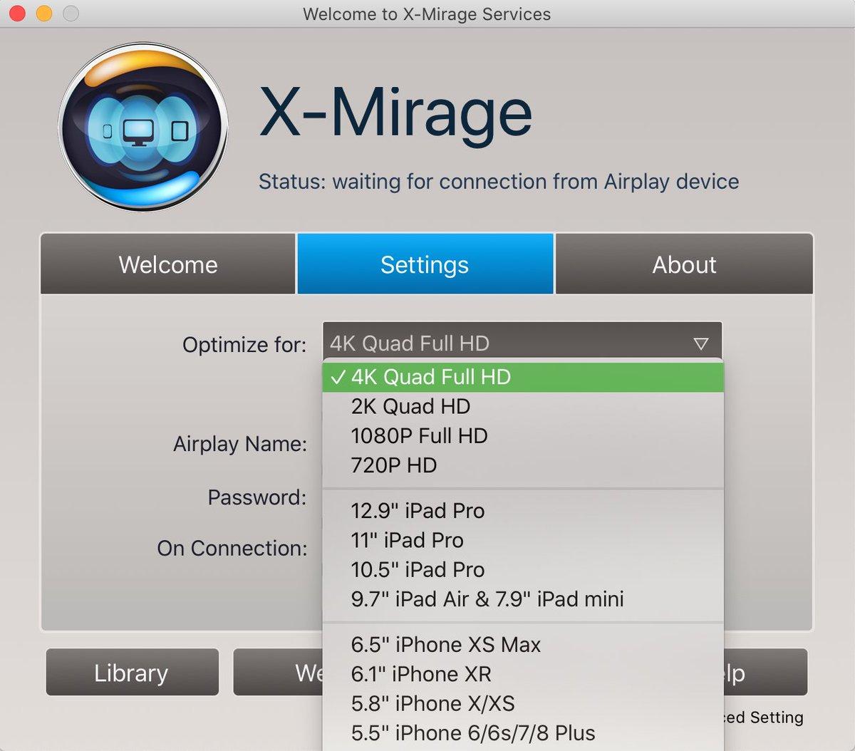 Phản chiếu màn hình iphone quaX-Mirage