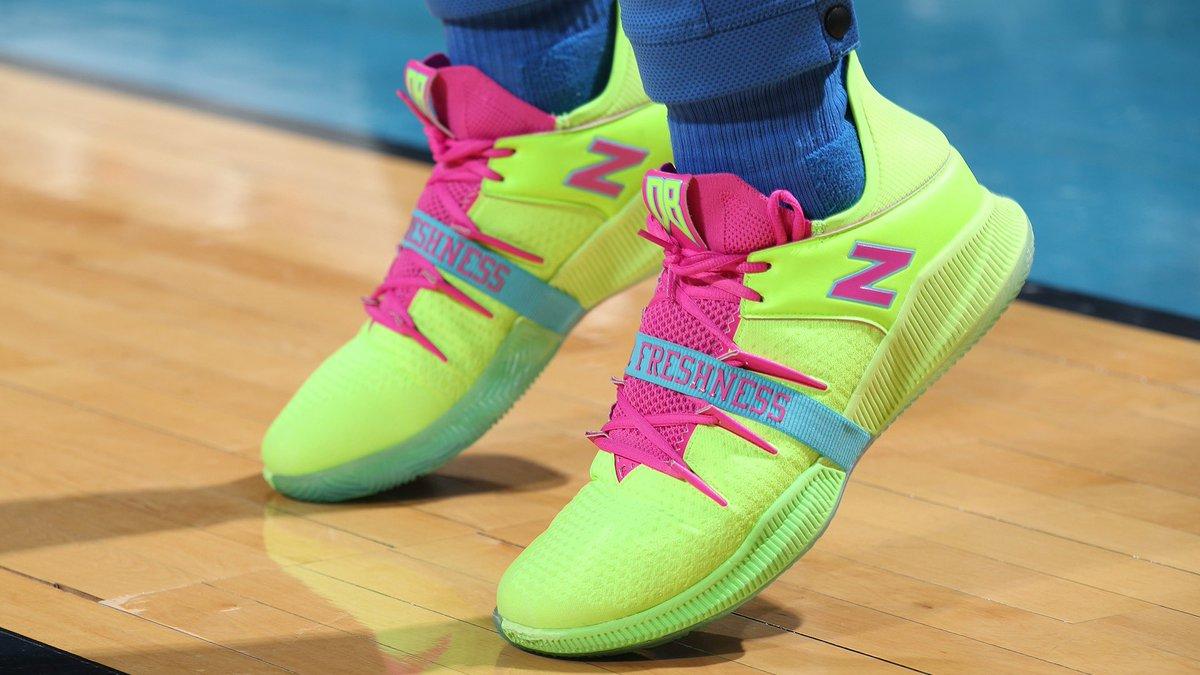 👀 @BazleyDarius brings the FRESHNESS!   #NBAKicks #ThunderUp