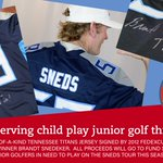 Image for the Tweet beginning: ⛳️🏈  Help a deserving child play