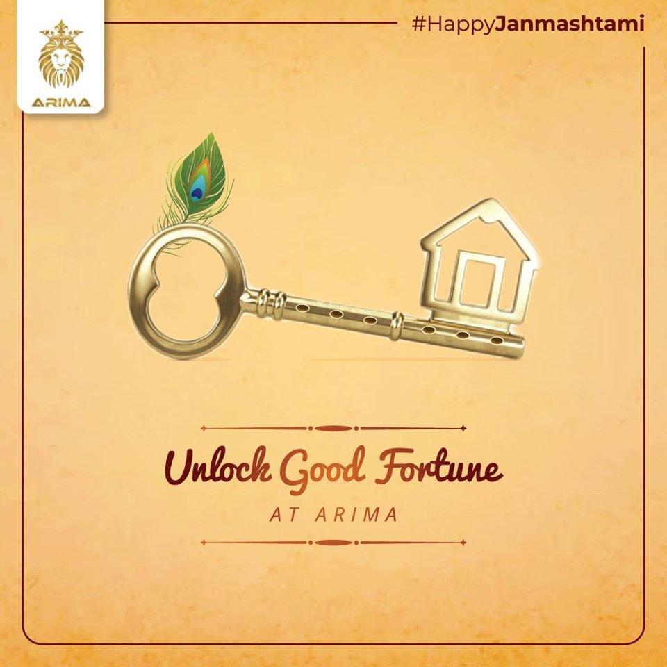 #Throwback - This #Janmashtami, invest in the key to happiness for you and your family............Brand: #ArimaDevelopersDesign: #Priya JainContent: #VrindaRayam..#LGS #LGSThrowback #LetsGooSocial #DigitalMarketingAgency #HappyJanmashtami #Arima #ArimaConstructions