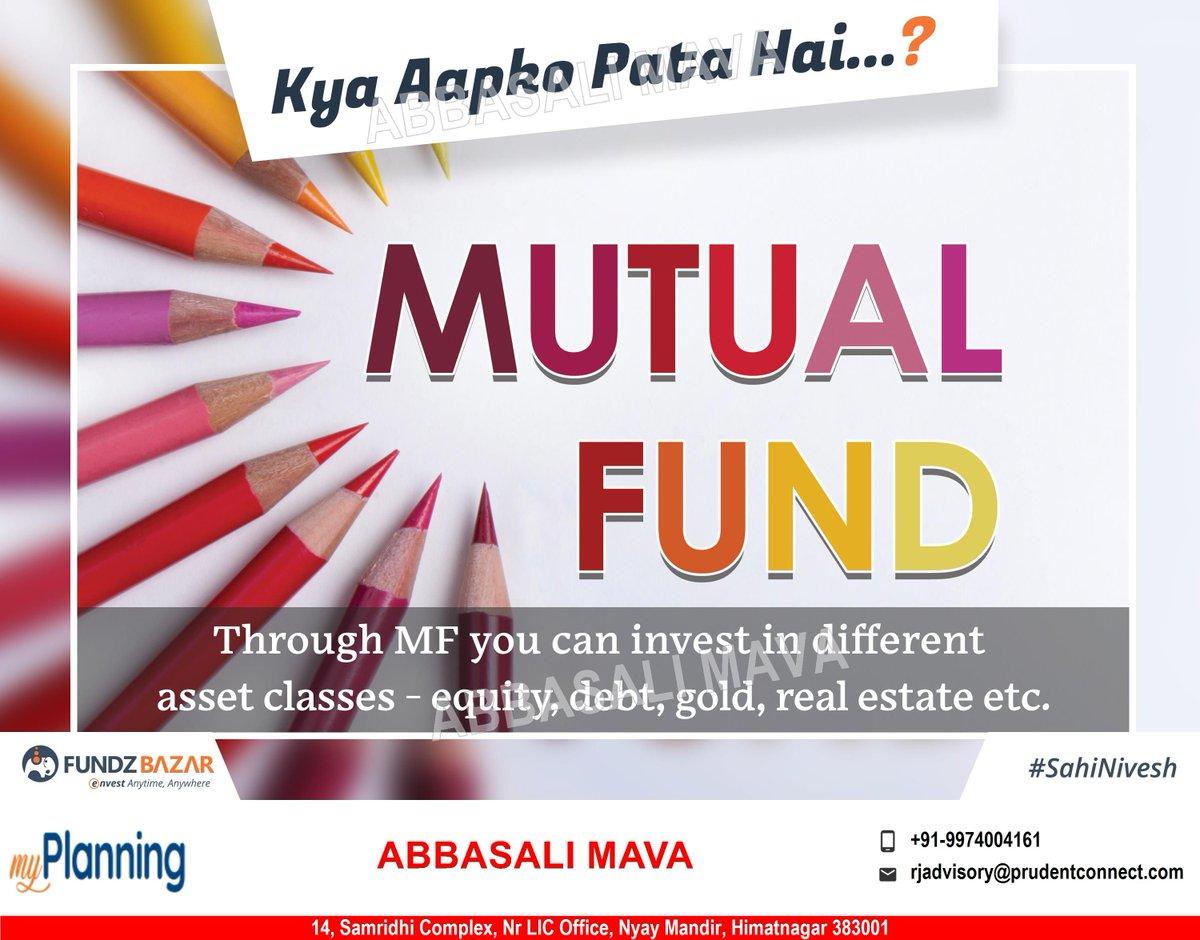Kya Apko Pata Hai ?   #mutualfunds #myplanning #futuredream #financialgoal #onlineinvest #onlinesip #myportfolio #goalsip #sahinivesh #wealthcreation #mutualfunds #financialplanning #MutualFundsSahiHai #AdvisorZarooriHai  https://buff.ly/2NGfzM4pic.twitter.com/4ghB5G0jeV