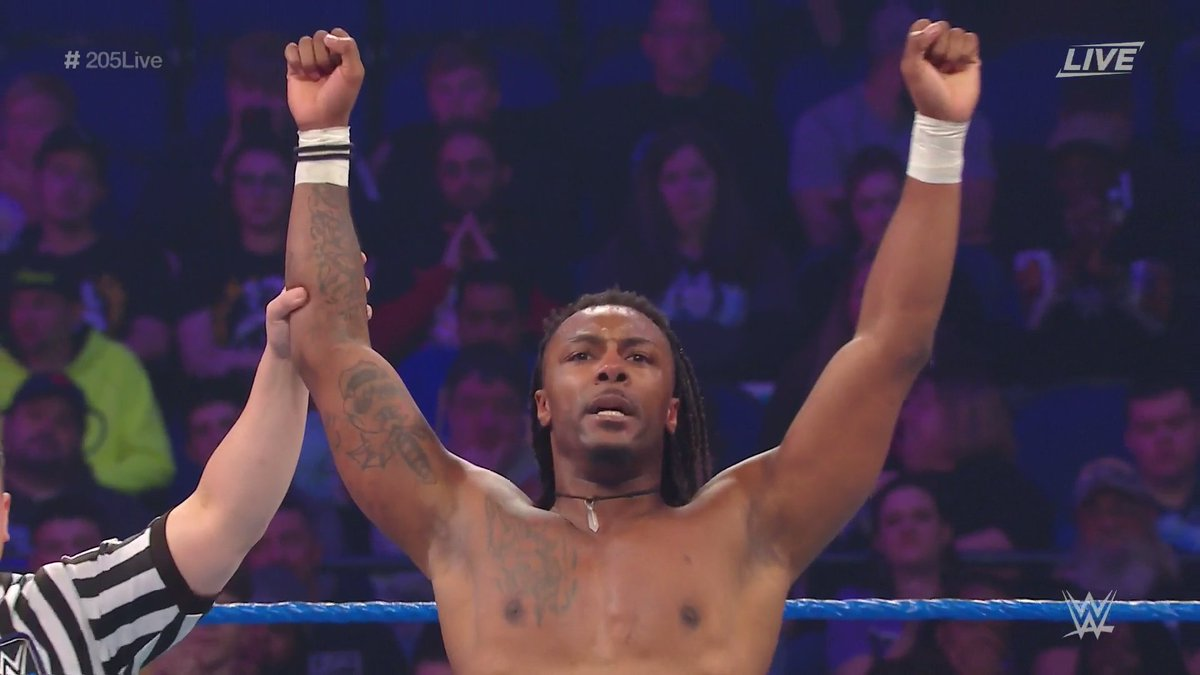 """RT WWENetwork: .swerveconfident is VICTORIOUS on #205Live! """