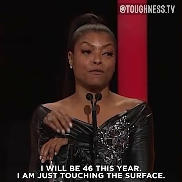 Toughness is @tarajiphenson  Don't allow other people's fears and limits become your own. . Taraji was laser beam focused on her dream of becoming a Hollywood actress - she worked 2 jobs while raising her child just to finish her degree. Her grind e… https://ift.tt/2TyiDhR pic.twitter.com/CyPkce0LSv
