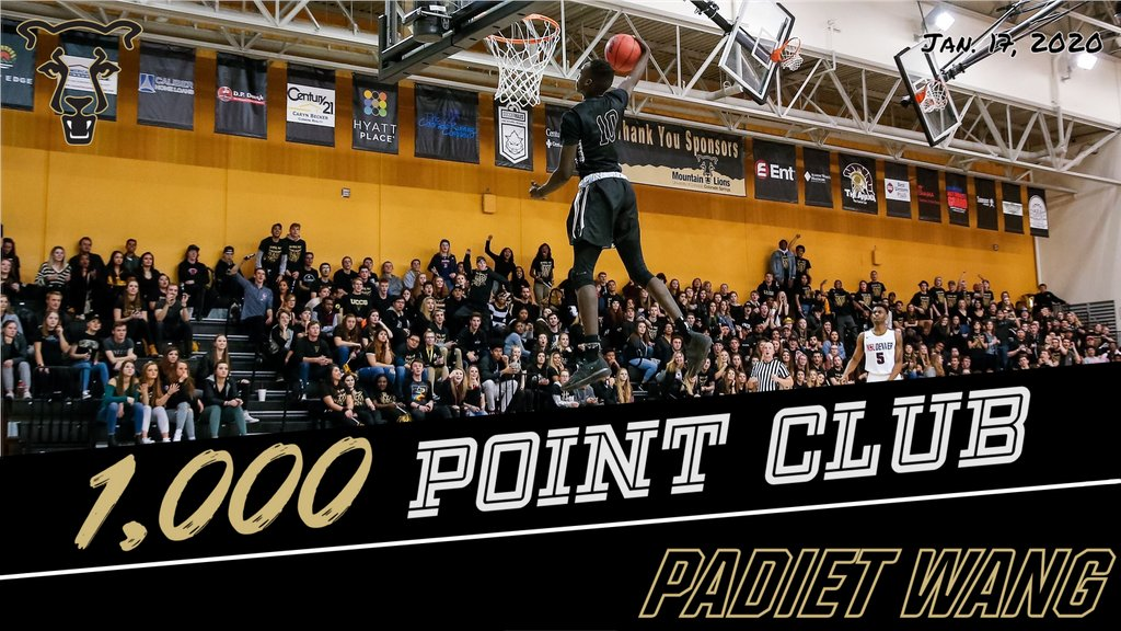 Welcome to the @UCCSMBB 1,000-point club, @padiet_wang05!  🏀 Padiet recorded his 1,000th point in the 2nd half of tonight's @UCCSMBB game at BHSU.  Congrats on your career accomplishment! 🙌   #ClawsOut #GoMountainLions #RMACmbb https://t.co/0BOCUECVIz
