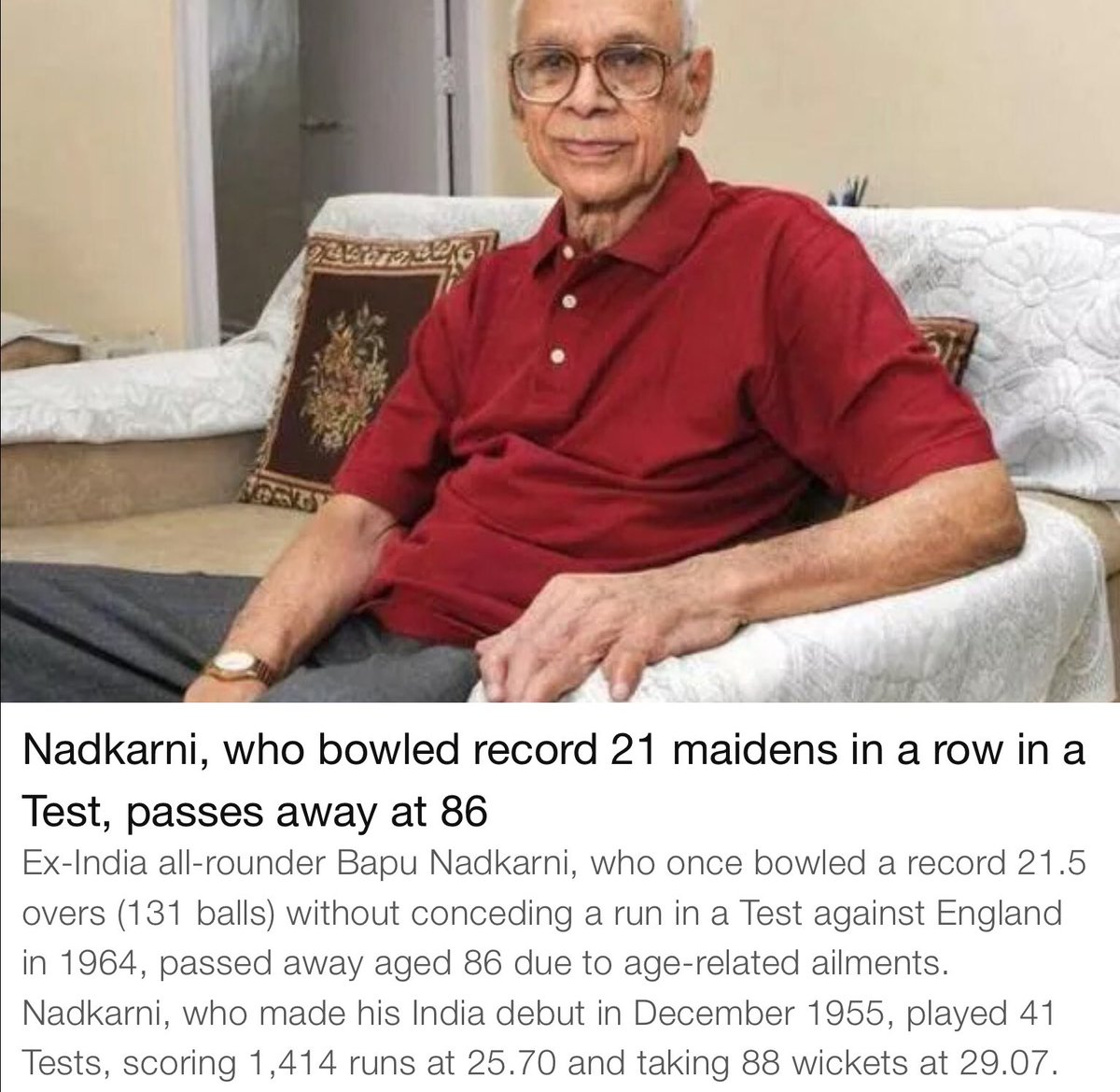Great cricketer of 'Test Cricket' period. May his soul rest in peace. <br>http://pic.twitter.com/ujHKmplqHr