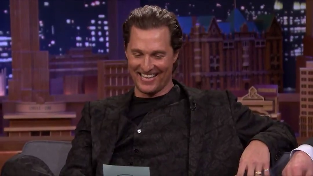 .@McConaughey & Hugh Grant (@HackedOffHugh) put their own spin on each other's famous lines #FallonTonight