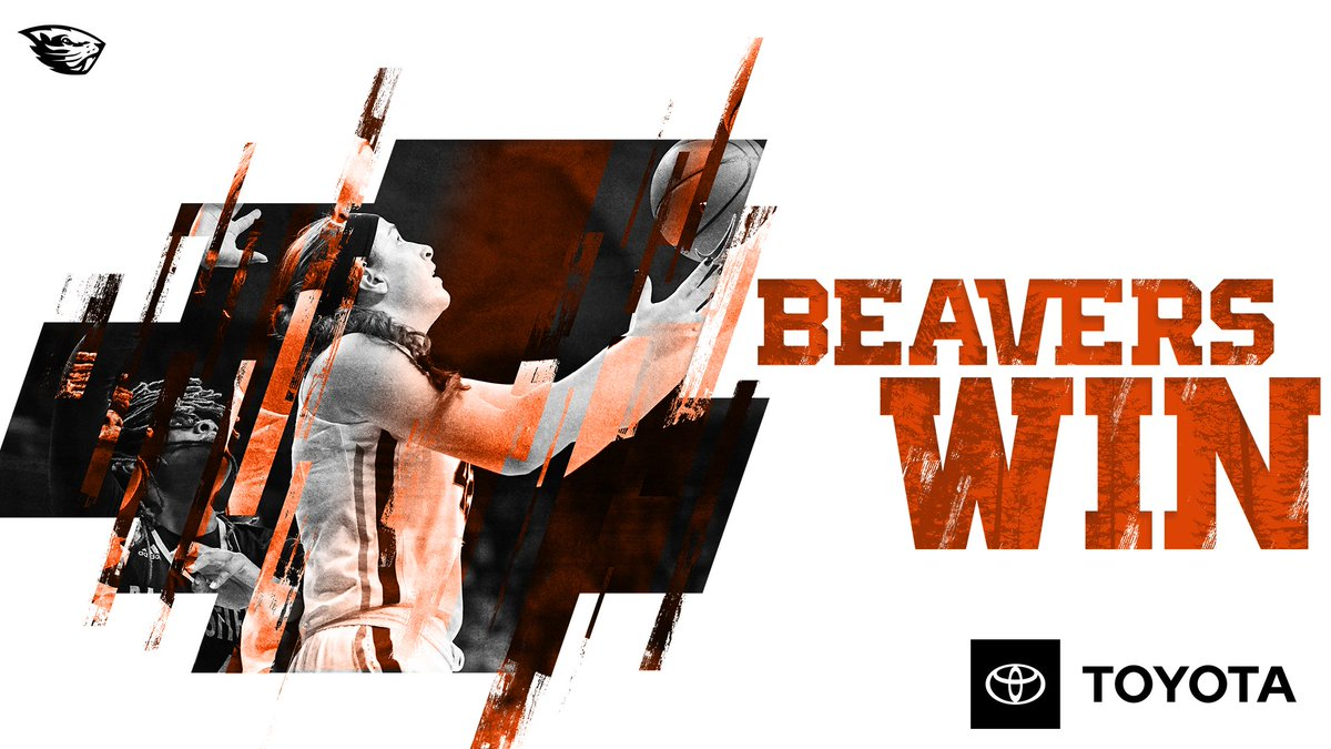 BEAVERS WIN!  Oregon State takes down Cal 81-44 for its 18th-straight home win!  #GoBeavs