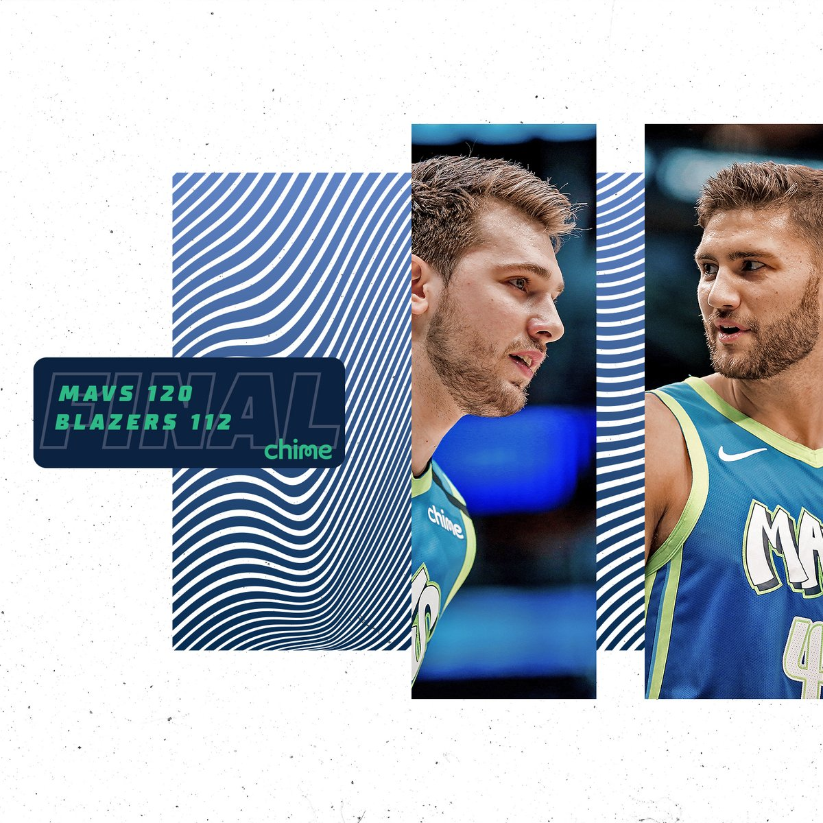 FINAL: Mavs win! @luka7doncic led all scorers with 35, @T_HardJR poured in 29, and @sdotcurry and @jalenbrunson1 both scored double-digits off the bench!  @Chime | #MFFL