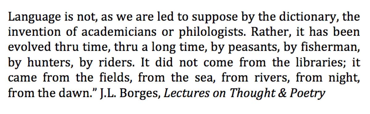 Borges on the origins of language: