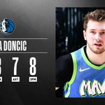 Image for the Tweet beginning: Luka Doncic knocks down a
