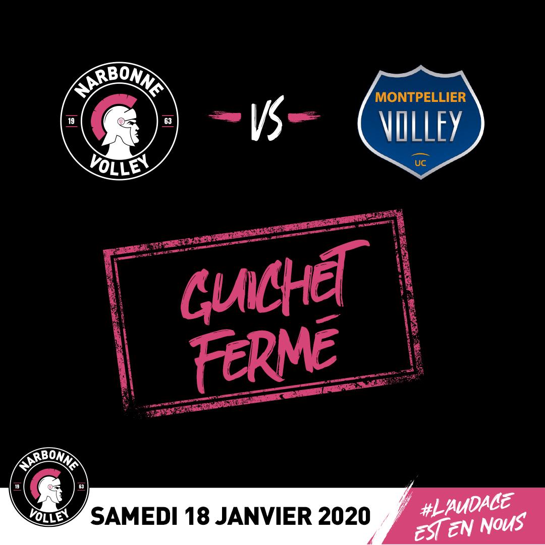 L'événement @narbonnevolley vs @MontpellierCVUC #LAM @LNVofficiel  à la...