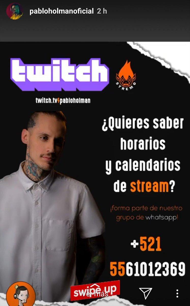 What's app de apoyo a @PabloHolmanC en #Twitch #kudai #PabloHolman #noticias #Chile #musicachilena #Mexico @kudaipic.twitter.com/1E3a5ceKUb